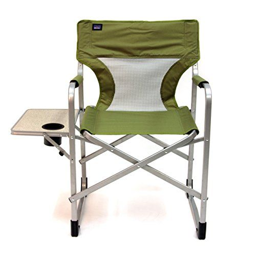 Mac Sports Folding Director Chair With Side Table And Cool Mesh Panel Moss Green Read More At The Image Lin Camping Furniture Directors Chair Outdoor Chairs