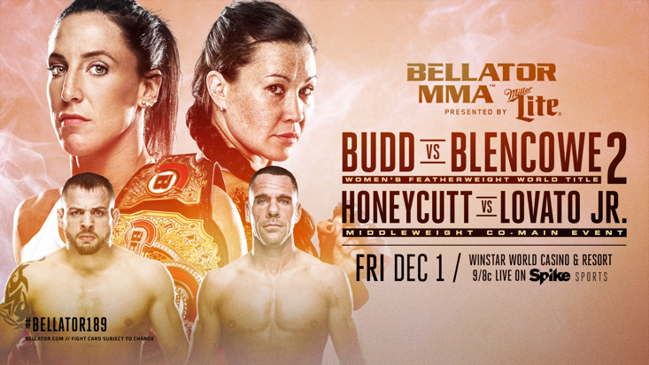 Bellator 189 On Friday Dec 1 To Feature Women S Featherweight Champ Julia Budd In Rematch Against Arlene Blencowe Real Combat Media Mma Ufc Mixed Martial Arts
