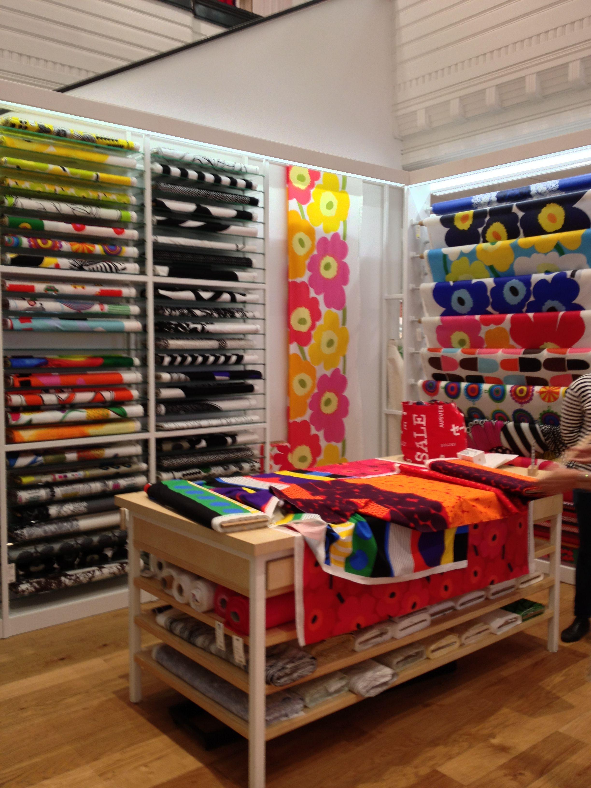 Marimekko Fabric DisplayMarimekko FabricTag DesignBoutique DesignShop