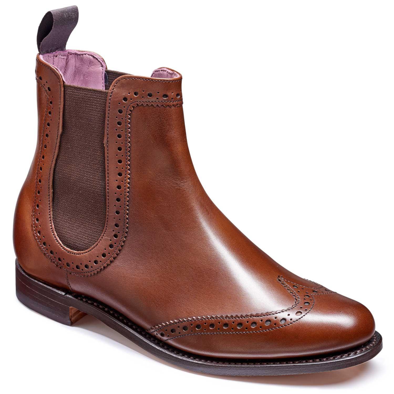 d712b975246 Barker Ladies Sabrina Brogue Chelsea Boots - Walnut Calf in 2019 ...