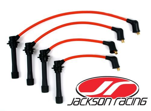 Miata Spark Plug Wire Set by Jackson Racing • Jackson Racing wires on miata oil pan, miata radiator, miata crank sensor, miata fuel pump, miata wheels, miata throttle body, miata wiring harness, miata heads, miata starter, miata coil on plug,