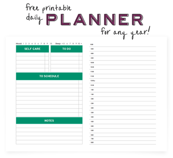 Free Printable Planner by Kyla Roma