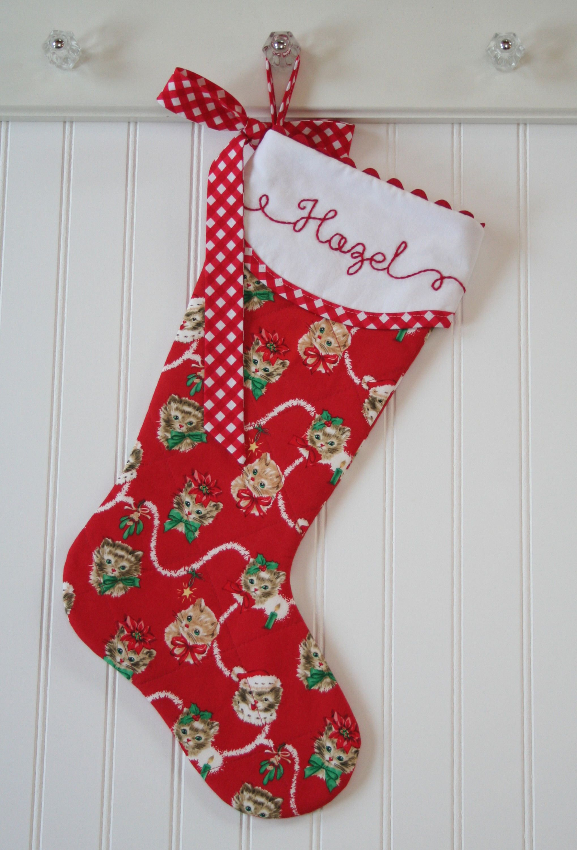 Medium Of Cat Christmas Stockings