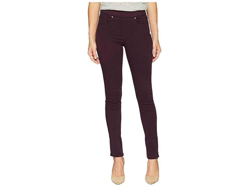 Levi's(r) Womens Pull-On (Cali Plum Twill) Women's Clothing. Slip into comfort with these Levi's Womens Pull-On Skinnies. Pull-on skinnies boast a higher rise and a slim fit through the thigh down to the ankle. Classic five-pocket design with signature arcuate stitch at back pockets. Elastic waist. Blue Space Age  Dark Camo  Mod Blue  Rinsed Indigo  Shady Sky: 89% cotton  9% polyester  2% LYCRA spandex. Dark Black: 65% cotton
