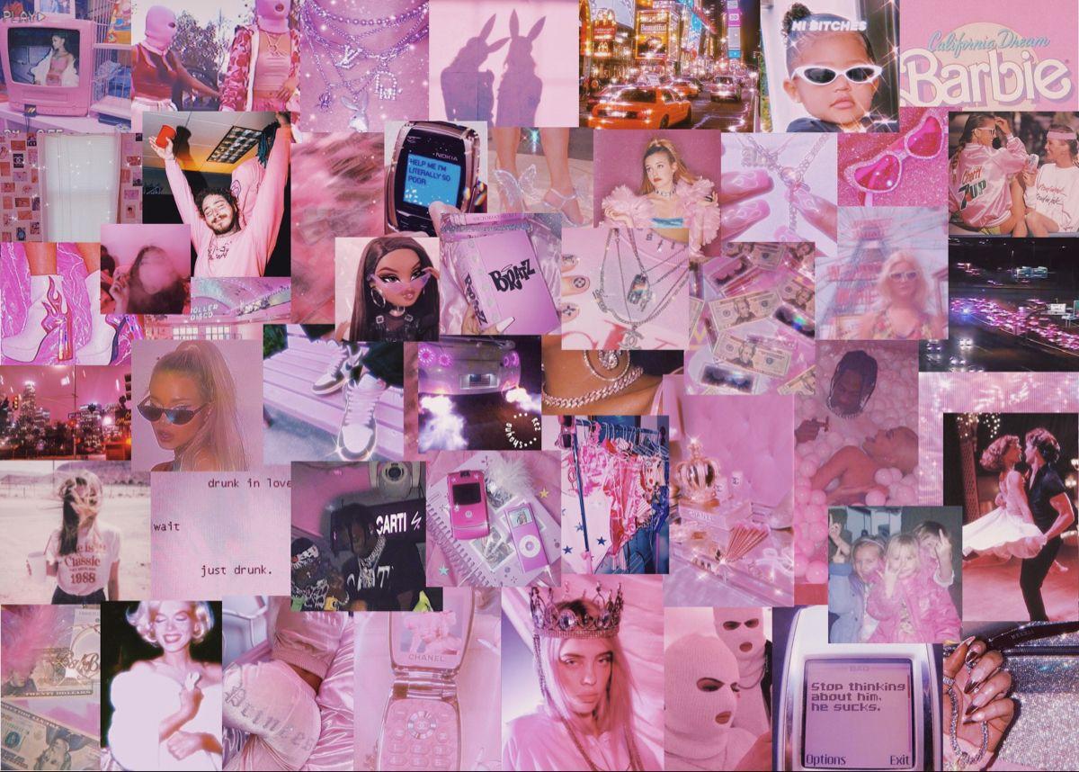Pink Baddie Aesthetic Laptop Wallpaper Aesthetic Iphone Wallpaper Aesthetic Desktop Wallpaper Pink Wallpaper Laptop