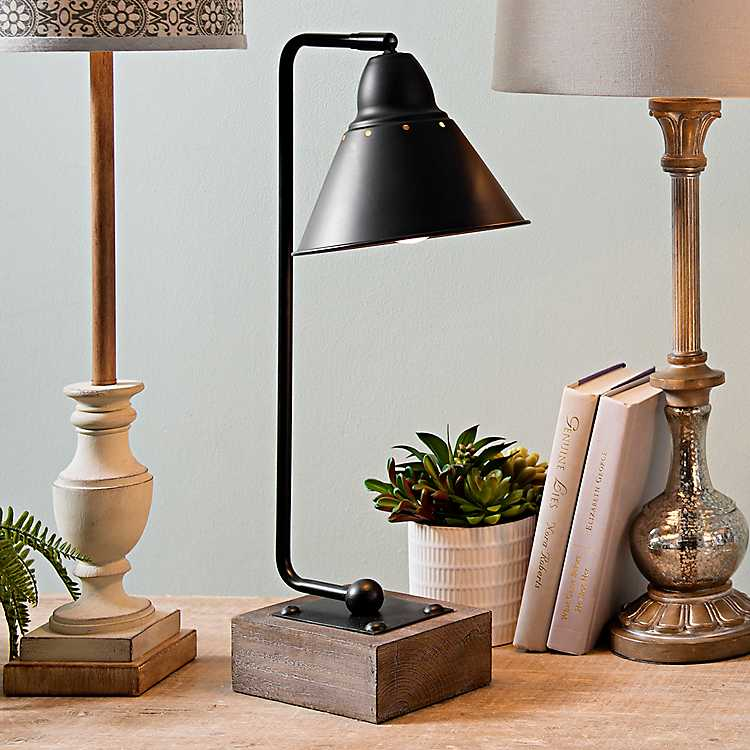Wood And Glass Table Lamps