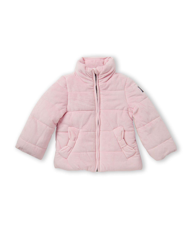 Toddler Girls Pink Velour Puffer Jacket Image 1 Jackets Girls Jacket Pink Puffer Jacket [ 1500 x 1200 Pixel ]