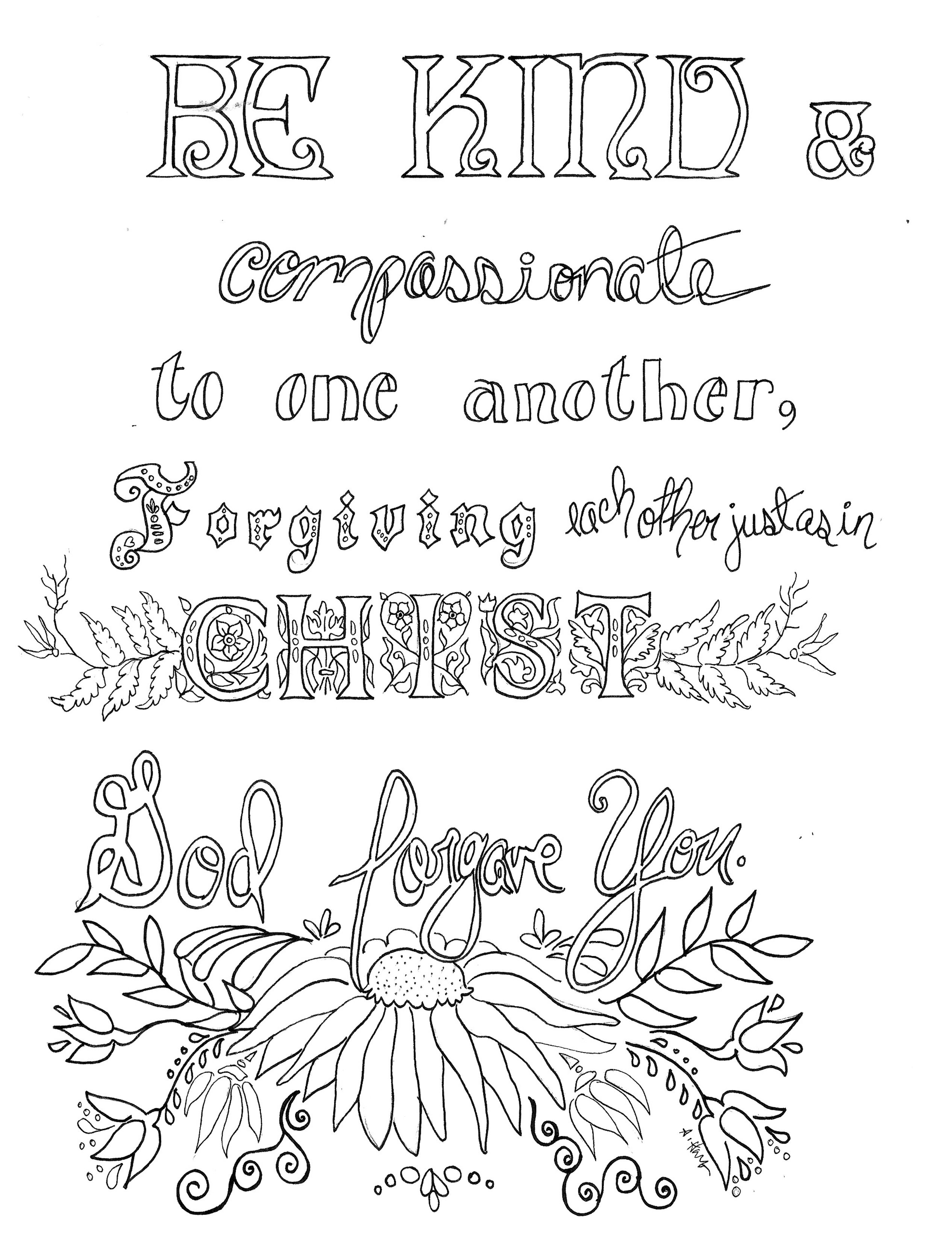 Share God S Gifts Free Scripture Coloring Art Printable 8x10