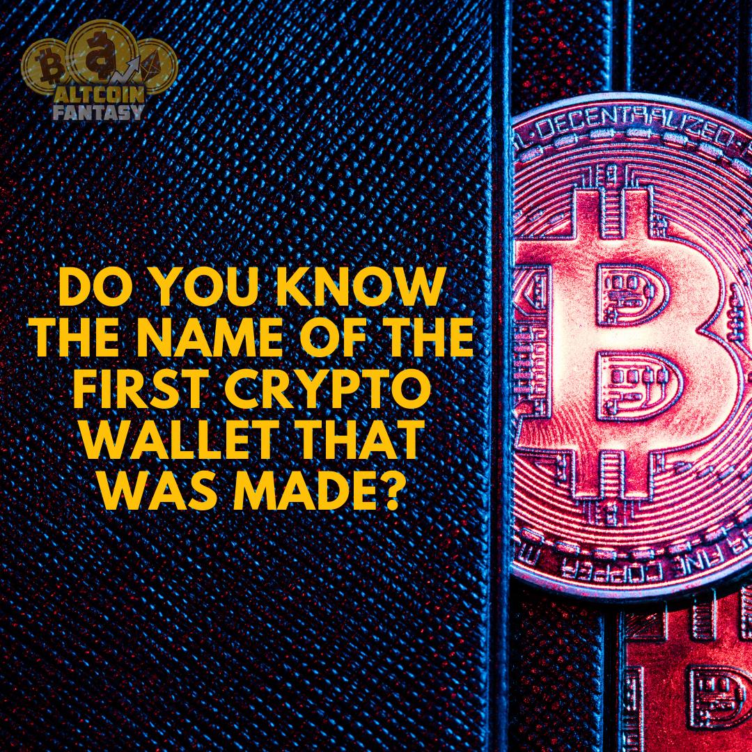 first bitcoin wallet