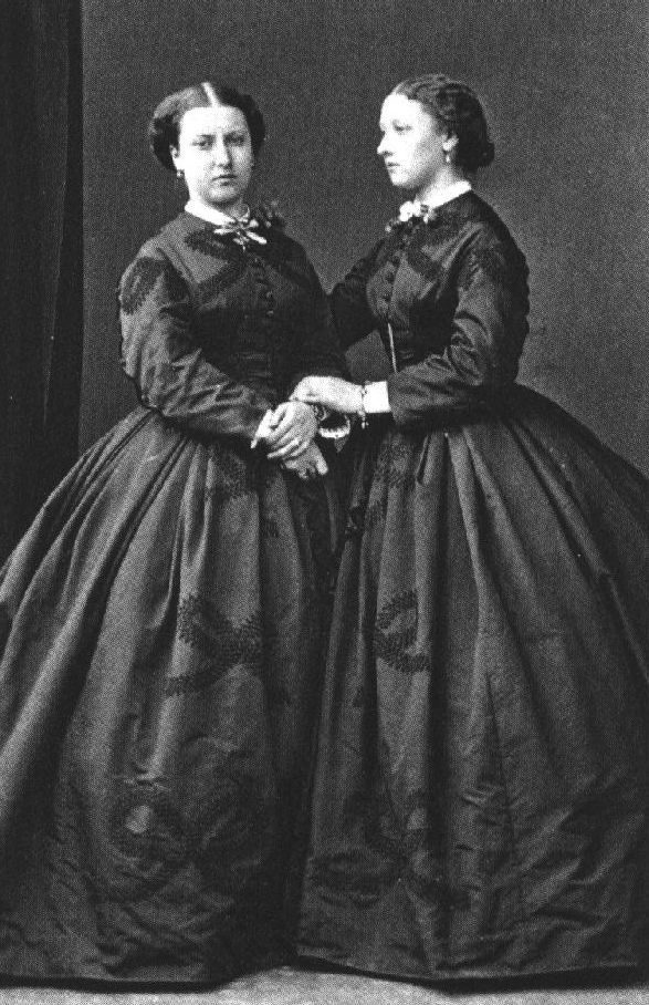 Princesses Helena and Louise of the United Kingdom. 1864