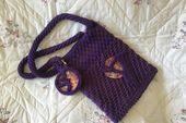 Photo of Bolso tote con patrón de ganchillo 3patterns Sahara Desert tote bag, Petite Paris tote bag …