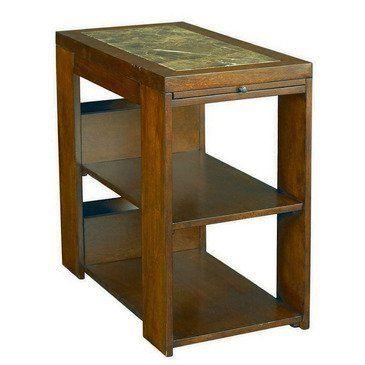 hammary marika chairside table by hammary 325 00 1 black laminate