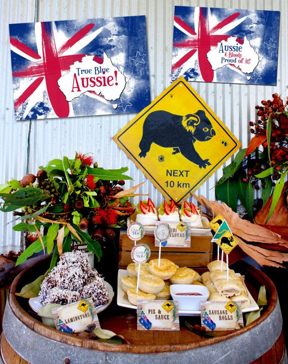 Australia day poster pack instant download aussie for Australia day decoration