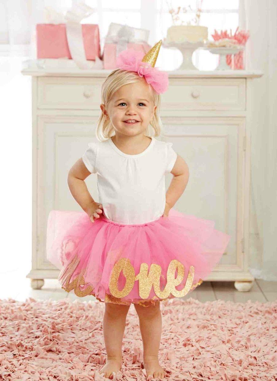 Mud Pie Baby Girls 1st Birthday Tutu And Hat