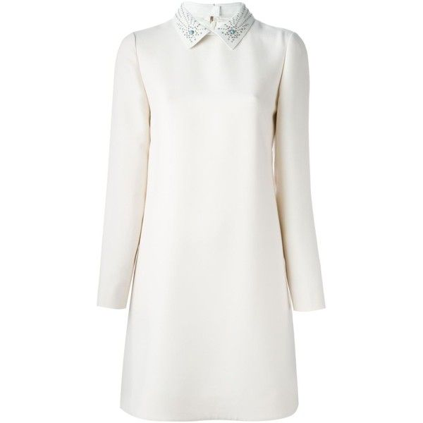 Valentino Embossed Collar Mini Dress ($4,490) ❤ liked on Polyvore ...