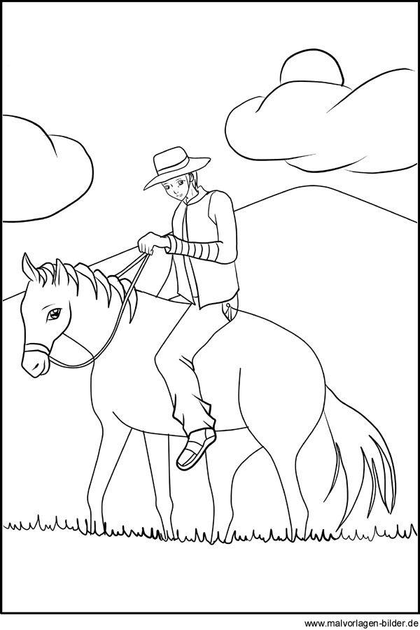 Cowboy Gratis Ausmalbild Zum Ausdrucken Ausmalbilder Zum Ausdrucken Ausmalen Ausmalbild