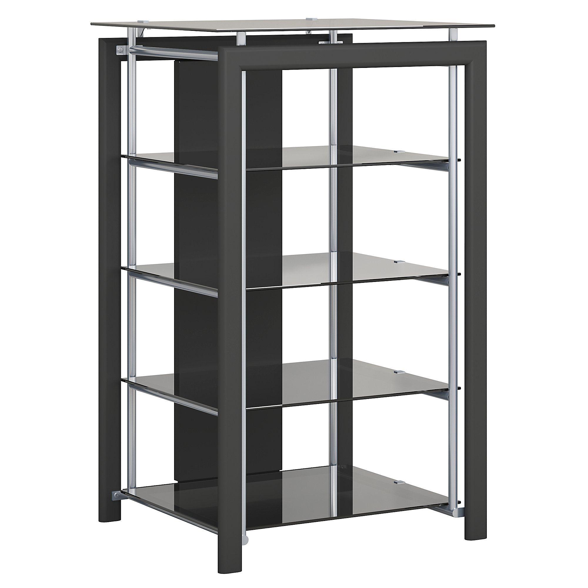 Bush Furniture Midnight Mist Media Stand In Black Walmart Com Bush Furniture Media Tower Console Shelf