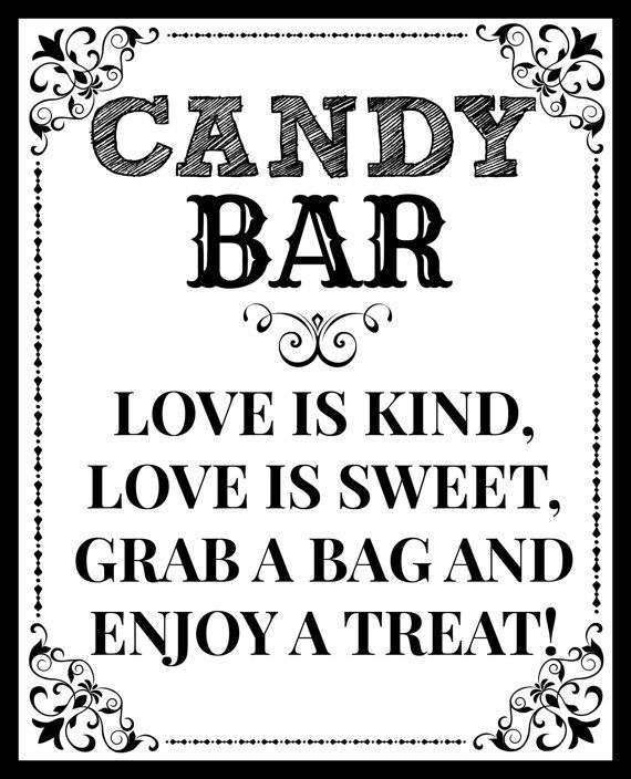DIY Printable Candy Bar Love is Kind Love by