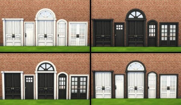 Mod The Sims Mega door recolored series by simsessa