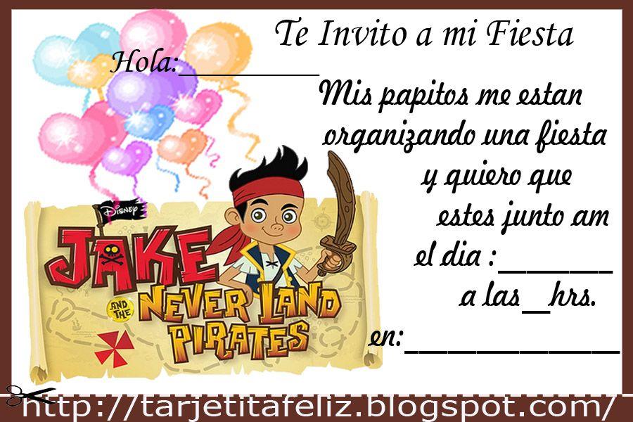 Tarjetas De Invitacion Para Imprimir Gratis Jake Y Los