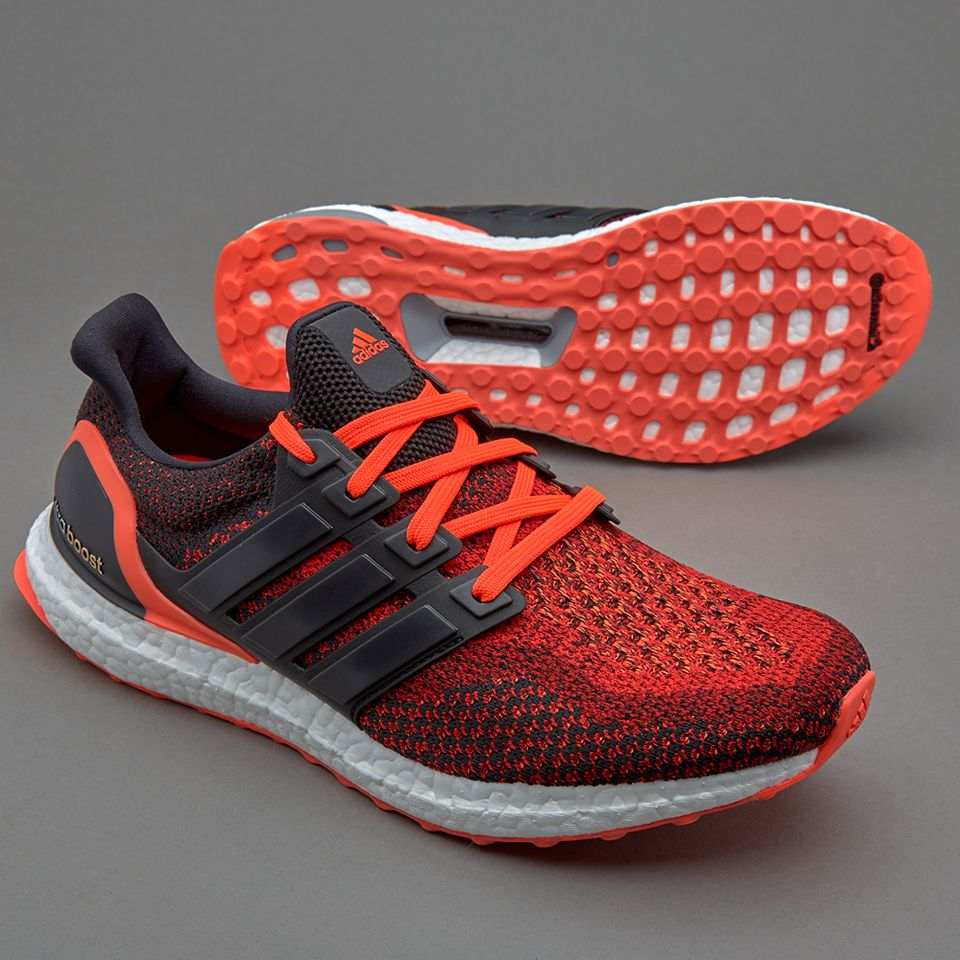 adidas Ultraboost - Core Black/Core Black/Solar Red - Mens Shoes - AQ5930