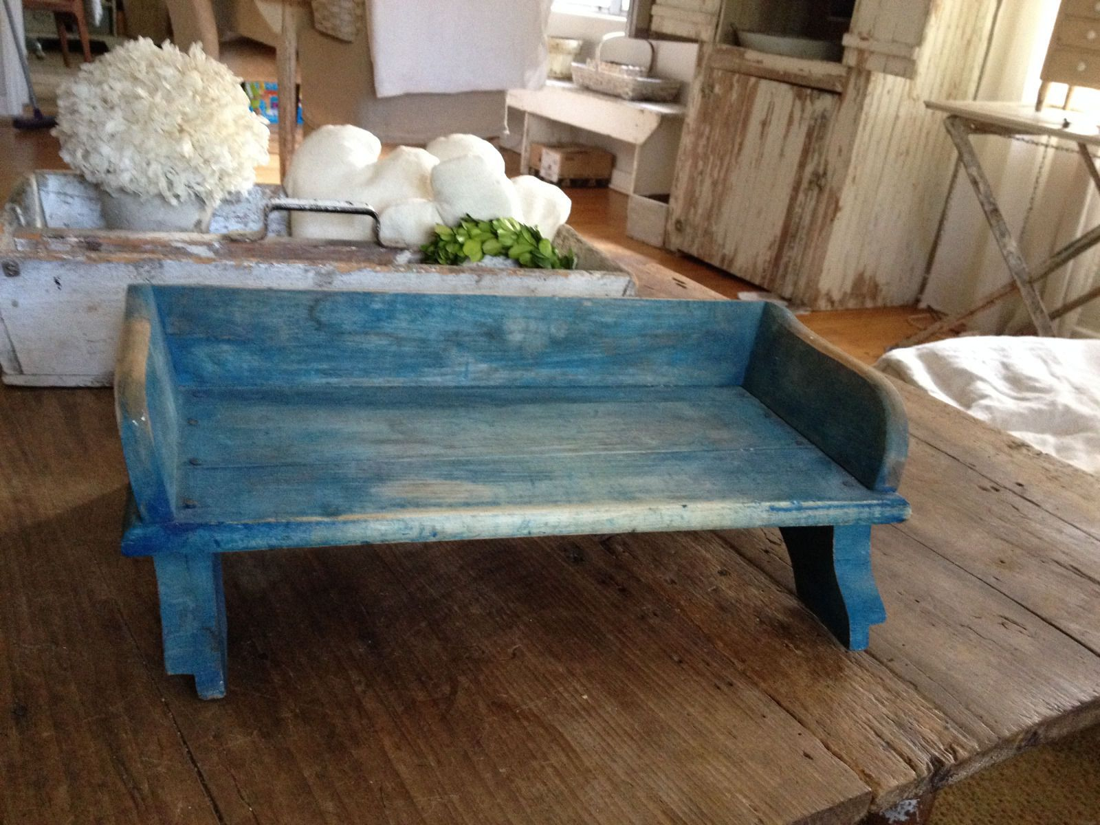 Super Antique Wood Buckboard Wagon Or Buggy Seat Bench Old Blue Inzonedesignstudio Interior Chair Design Inzonedesignstudiocom