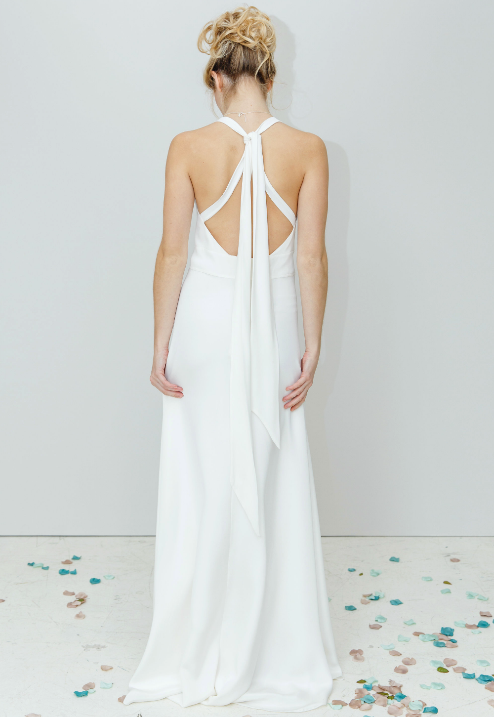 Low back boho wedding dress. Simple Modern Unstructured wedding ...