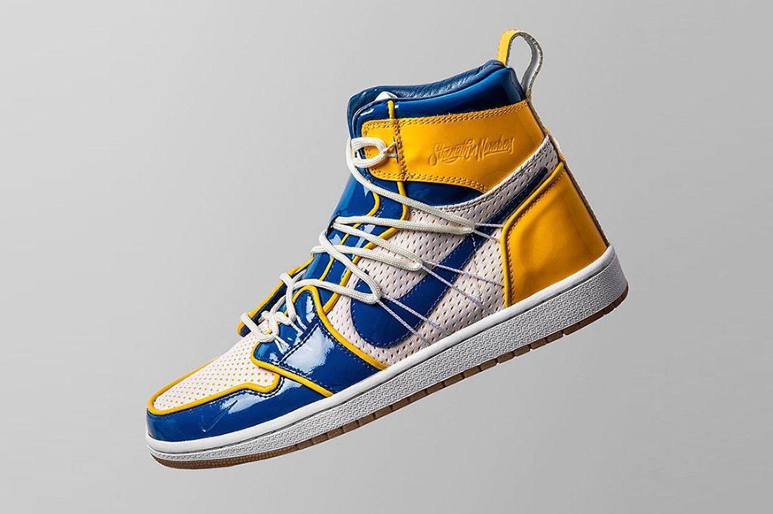 ad062d3f3f5a8 Golden State Warriors Nike Collaboration Teaser Air Jordan 1 Force Dunk  Blue Gold Stephen Curry