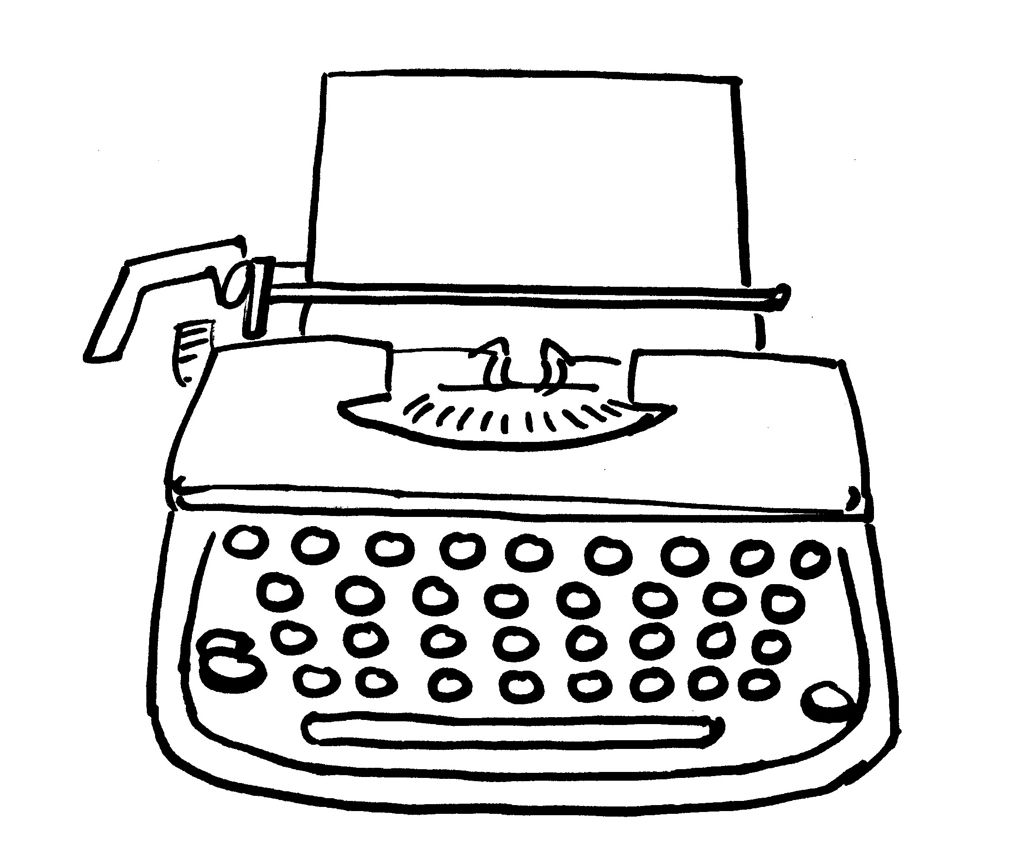 how to draw typewriter font