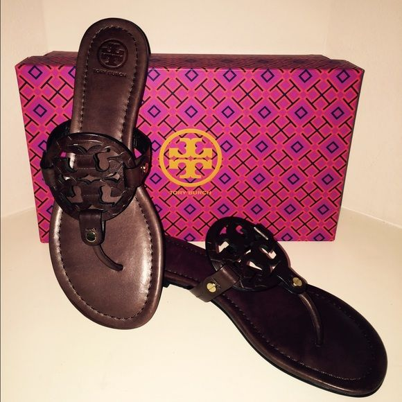 2195cc48c403 Tory Burch Milker Sandals in Chocolate Tory Burch Miller Sandals in  Chocolate with Chocolate Snake Print Logo. New in Box Tory Burch Shoes  Sandals