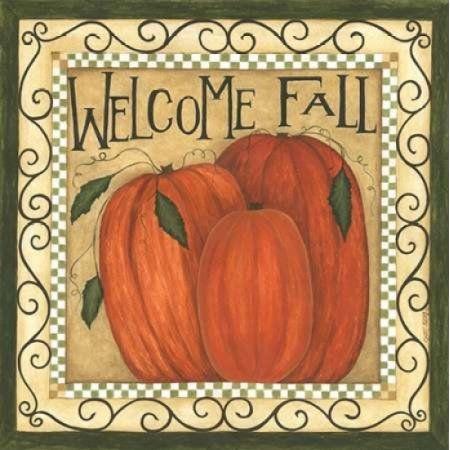 Welcome Fall Canvas Art - Cindy Shamp (24 x 24)