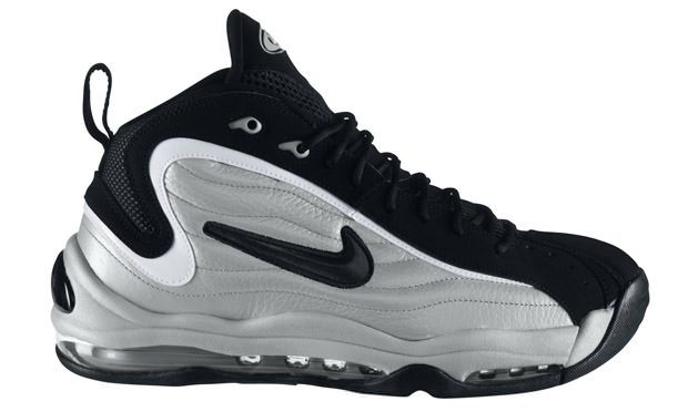 The OG colorway of the Nike Air Total Max Uptempo was designed to match the  silver and black uniform of then-unestablished power forward Tim Duncan.