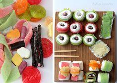 Gummibärchen Haribo Sushi Basteln Süsses Sushi Gummibärchen