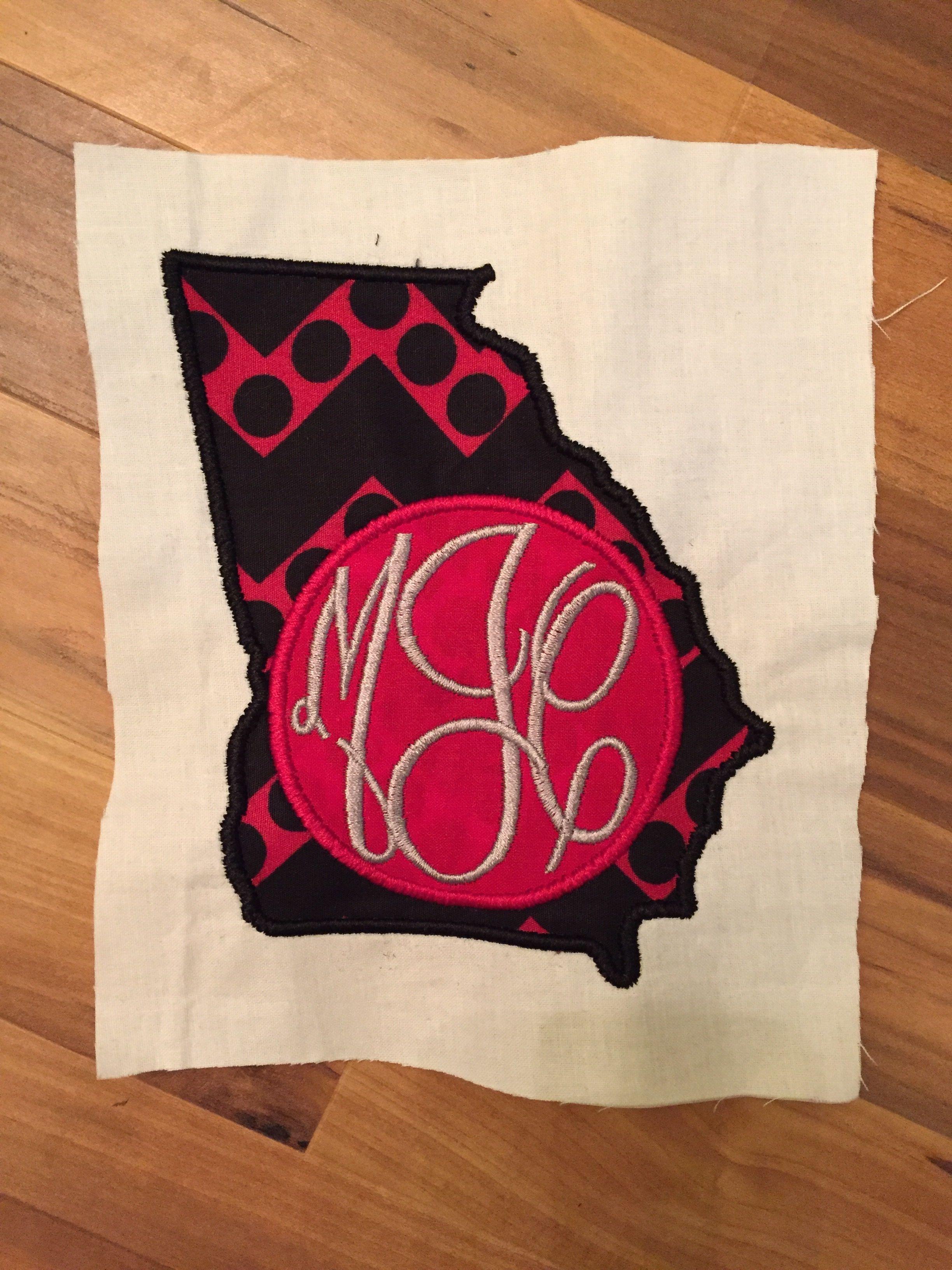 Georgia Monogram Applique: Miss Mary's Embroidery