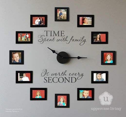 Family pictures clock