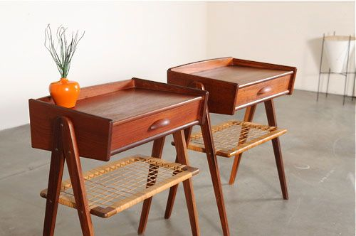 Superb EBay Watch: 1950s Danish Teak Side Tables   Retro To Go