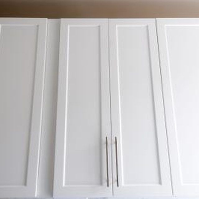 How to Add Trim to Cabinets   Painting laminate cabinets, Hardware ...