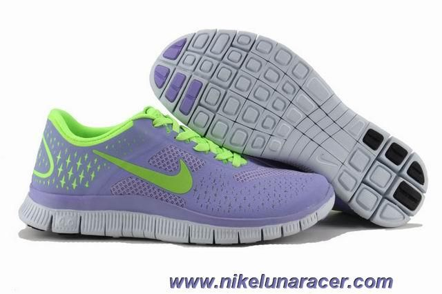 dba6addd92e Knockoff Nike Free Run Shoes Womens Purple Fluorescent Green