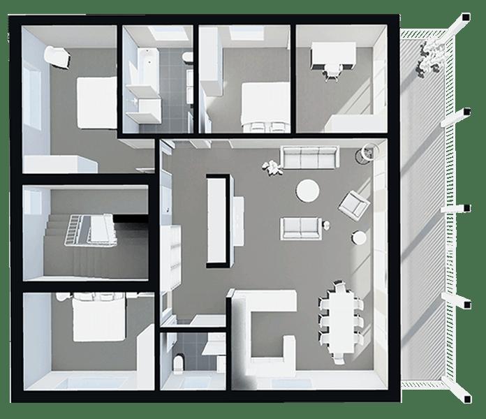 3d Floor Plan After Floor Plans Flooring House
