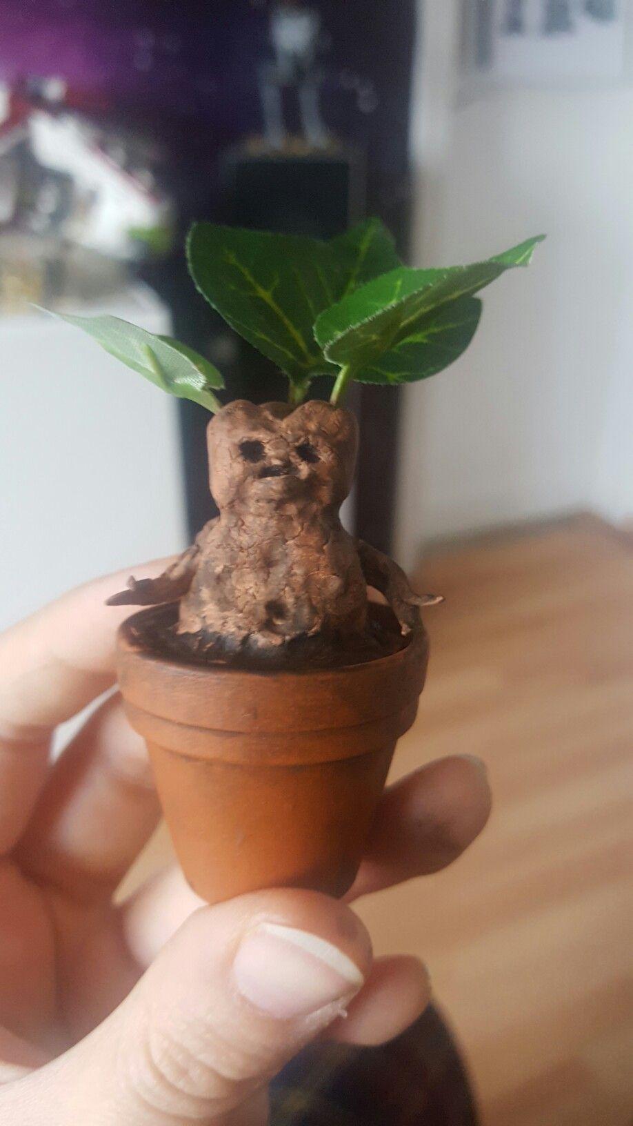 Mandrake di Potter Harry plastica fogli Air Diy Fimo piccoli Mandrake più D2IWEH9