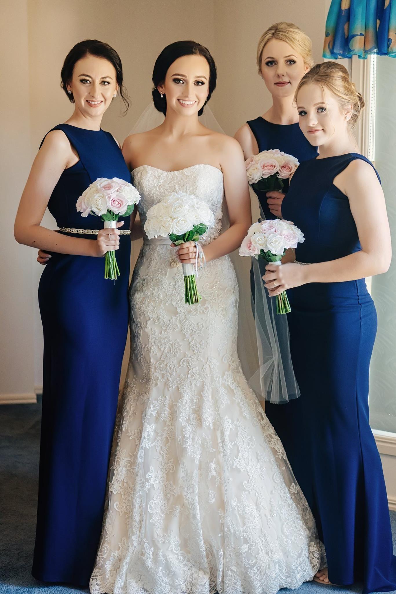 Long navy dress for wedding  Bridesmaids Wedding Dress Wedding Luxury Roses Navy  Wedding