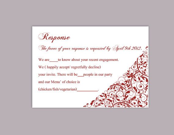 photograph regarding Printable Rsvp Card referred to as Pin upon Thedesignsenchanted Plans and Templates