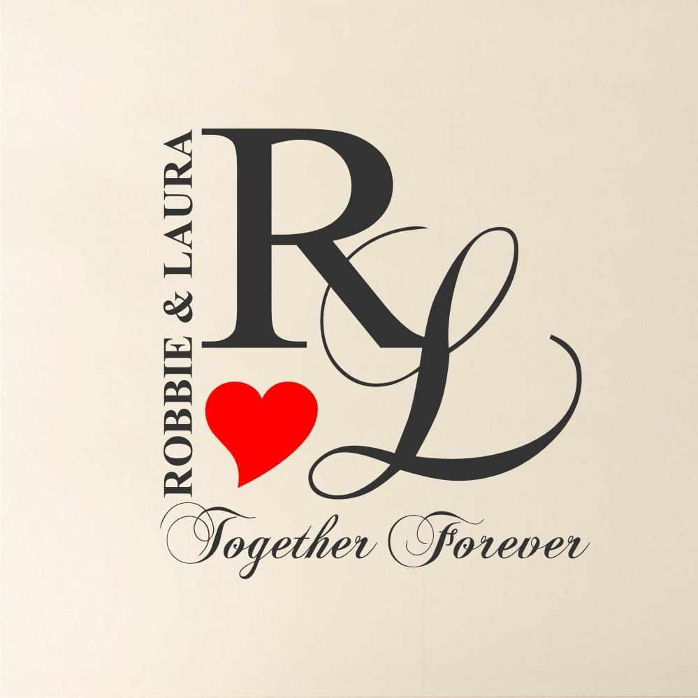 Together forever wall sticker quote bedroom living decal home