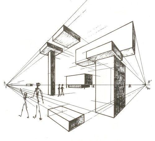 Persp 2 Pt de fuite | Dessin | Pinterest | Perspective, Points et ...