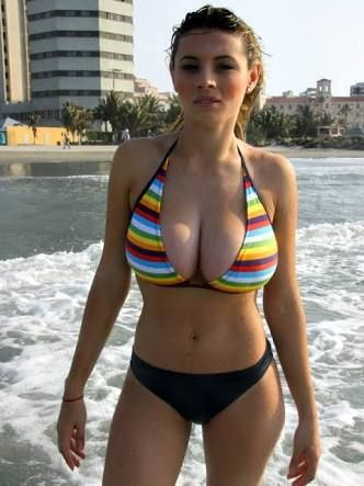 in Amateur bikini boobs
