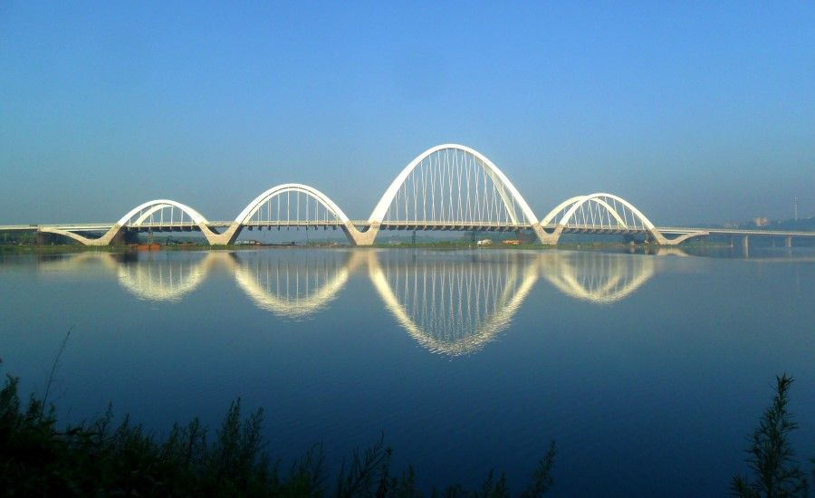 Shenyang Hun River Ribbon Bridge Parabolas Pinterest