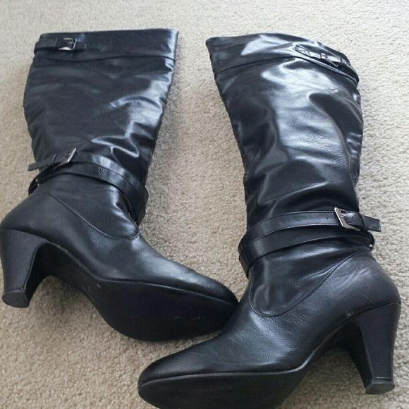 RAMPAGE Pammy boot 10M All manmade materials  3 inch heel  Gently  worn. Rampage  Shoes Heeled Boots