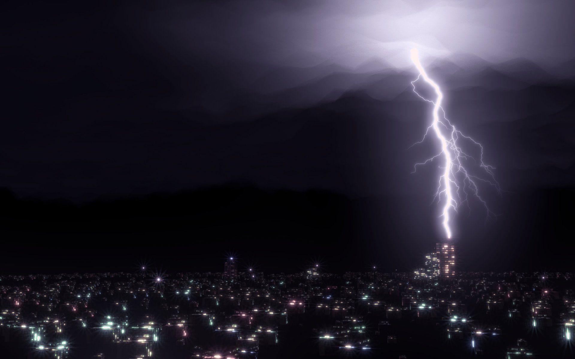 Image Result For Dark Lightning Storm City Lightning Storm Wallpaper New Pictures