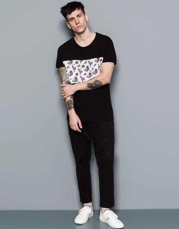Pull&Bear - hombre - camisetas - camiseta print - negro - 05240560-V2015