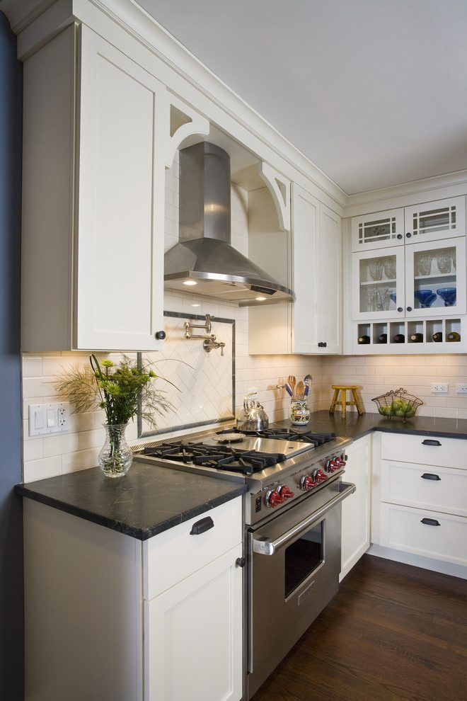 Kitchen Range Hood Covers Kitchen Traditional With White Cabinets